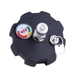 Ball lock co2 cap for growler