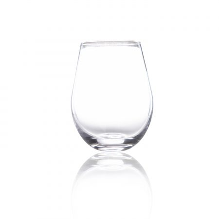 A 21oz stemless wine glass